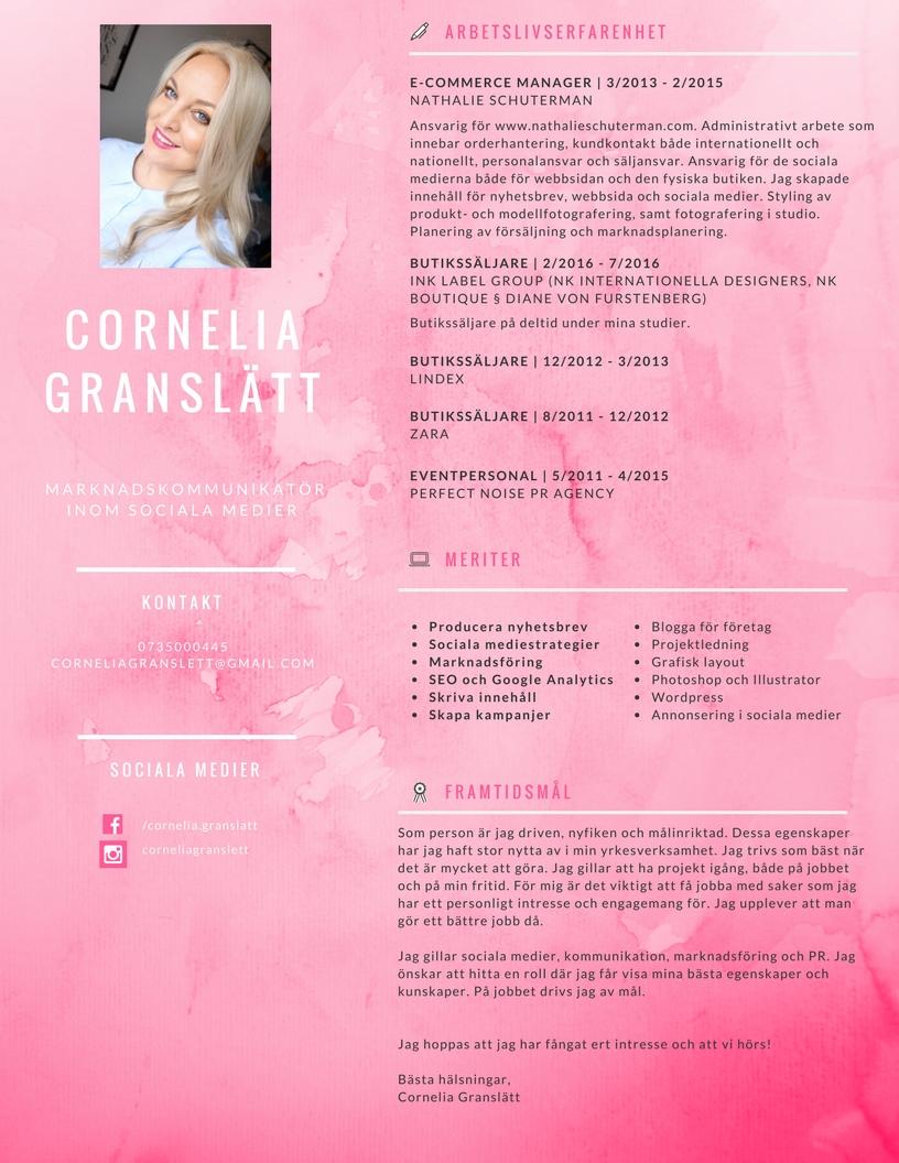 Cornelia Granslätt CV (1)